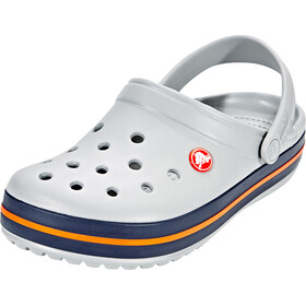 Crocs Crocband Clogs, light grey/navy